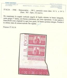 democratica 100L carminio