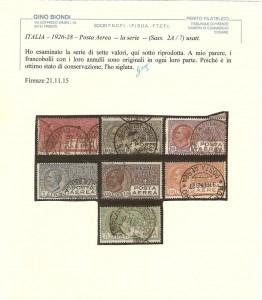 posta aerea la serie 1926-28
