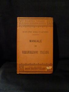 manuale di versificazione italiana
