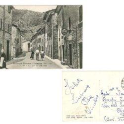 Cartolina Montagna Pistoiese – Prunetta – Staz. Clim. M.1000 s.m – Una via del paese