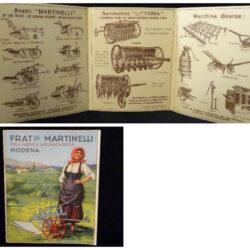 Cartolina Fratelli Martinelli – Prem. Fabbrica macchine agricole – Modena – 1933 – Arti Graf. Navarra S. A. Milano