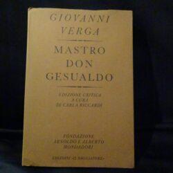 Mastro don Gesualdo – Giovanni Verga – Mondadori – Prima edizione 1979