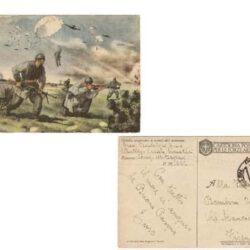Cartolina Paracadutisti in azione – F 58/2 – Catalogo Filagrano I.P. 2014/2015