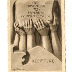 Mastroianni Domenico – 1935 Italiani boicottate le sanzioni – Catalogo Filagrano I.P. 2014/2015