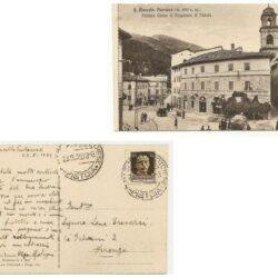 Cartolina S. Marcello Pistoiese – Palazzo Cassa di Risparmio di Pistoia.