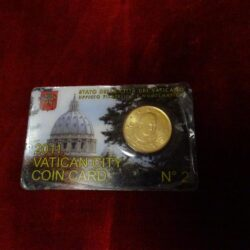 Vatican city coin card 2011 N°2 – 50 cent