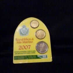 Repubblica di San Marino – 2007 – 2€ -20cent – 10 cent