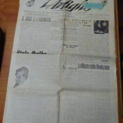 L'artiglio – Anno I N°34 – Lucca 27 Luglio 1933 – XI – C.C.Postale