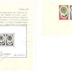 Foglietto Monaco Europa 1964 BFS6 – Certificato Diena