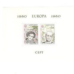 Foglietto Monaco Europa 1980