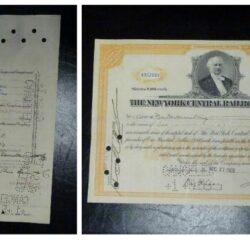 Scripophily The New York central railroad Company 1928, 100$