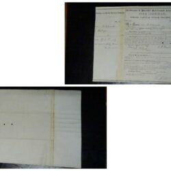 Scripophily Dubuque & Pacific railroad Company – Stock certificate 1859