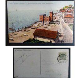 Cartolina Pegli Riviera di Genova – La marina vista dal Grand' Hotel Mediterraneo