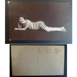 Cartolina giapponese – Raffigurazione di donna