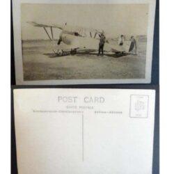 Cartolina Post Card – Raffigurazione aereo con persone