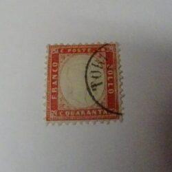 Regno d'Italia 1862 40c. rosso carminio