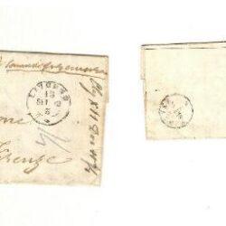 Busta/lettera con francobollo 1862 Effigie di Vittorio Emanuele II 10c. giallastro