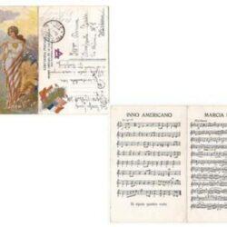 Cartolina postale YMCA – Missione Americana per le case del soldato.