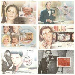 Spagna 2000 Espana 2000 Esposizione filatelica di Madrid Musica serie 11 foglietti BF 97/ BF 107 nuovi