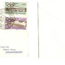 Busta Primi Voli Alitalia Dc-8 Jet Roma Johannesburg 1960