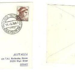 Busta Primi Voli Alitalia Dc-8 Jet Roma Sydney 1961