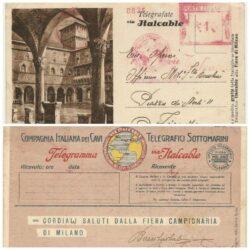 Intero postale pubblicitario – Telegrafate Via Italcable