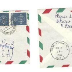 Busta Volo inaugurale Roma New York 1959 Boeing 707