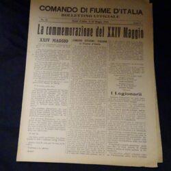 Comando di Fiume D'Italia N°21 Anno I