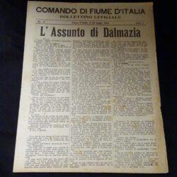Comando di Fiume D'Italia N°27 Anno I