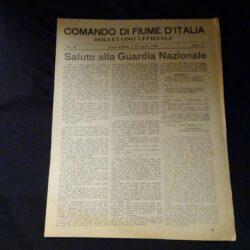 Comando di Fiume D'Italia N°28 Anno I