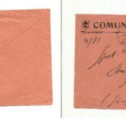 Regno d'Italia busta comunale rossa affrancata con 1.25 Lire Alessandro Volta isolato, per l'estero.