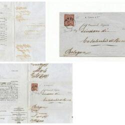 Regno d'Italia 2 cent. Su busta ( pieghevole ordine libri ), siglato Gino Biondi  e  Giampiero Palazzo. Sassone L 15 tiratura di Londra De La Rue