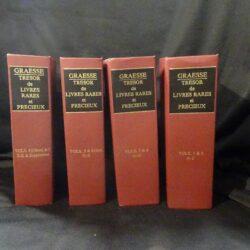 Graesse – Tresor de livres rares eh precieux – Vol. 1-4 Reprint
