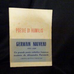 Poesie di Humilis – Germain Nouveau – Libreria editrice fiorentina 1945