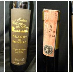 Brandy di Brunello – Antica Cascina di Rovi – Prodotto e imbottigliato nell'Opificio di Poggibonsi