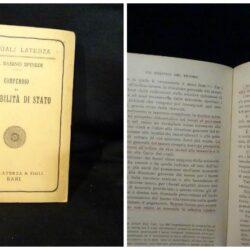 Spinedi – Compendio di contabilità di stato  – Laterza Bari 1929