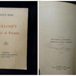 Borsi Giosuè – Colloqui scritti al Fronte – Torino Libreria editrice Nazionale 1918