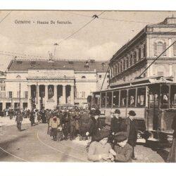 Cartolina Genova – Piazza De Ferraris