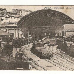 Cartolina Genova – Interno Stazione Principe