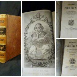 Histoire du Pape Pie VII par M. le Chevalier Artaud – Deuxième Edition –  Paris Librarire de Arden le Clere et Cie- 1837 – 2 tomi