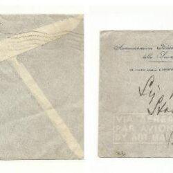 Somalia Afis   coppia 60 cent. Soggetti africani Sassone n°9, su busta. Da Mogadiscio per Firenze in posta aerea.