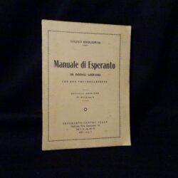 Manuale di Esperanto – Bruno Migliorini – seconda edizione Milano1933