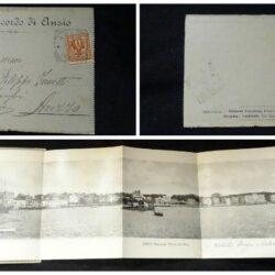 Lettera ricordo di Anzio, affrancata  2 cent. (n°69 Sassone)