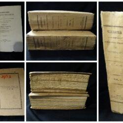 Formolario degli atti prescritti dal regolamento legislativo e giudiziario – Camillo Ciabatta – Roma 1834 – Vol. 1della 2°edizione (1842), Vol.2 del 1837