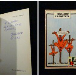 Giuliano l'apostata – Mazzotta – I libri del Male – 1980 – Dedica e autografo