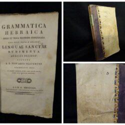 Grammatica Hebraica Brevi et Nova Methodo Concinnata – R.P. Edward Slaughter –  Roma 1823