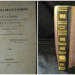 La medicina delle passioni per G.B.F Descuret prima versione italiana Firenze Alcide parenti edit 1844