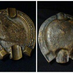 Posacenere in rame – cavallo – anni primo '900