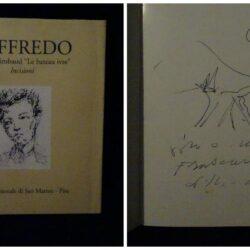 """Loffredo Arthur Rimbaud """"Le bateau ivre"""" Incisioni – Museo Nazionale di San Matteo Pisa1993 con disegno, dedica e firma"""