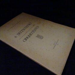 Il seicentismo nel cinquecento – Prof. Dott. Maria Giuseppina Pagliari Borelli – Lucca Tipografia Baroni 1919
